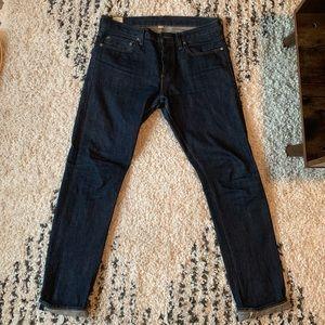 32x32 selvedge denim dark wash jeans